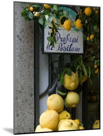 Lemons, Positano, Amalfi Coast, Campania, Italy-Walter Bibikow-Mounted Photographic Print