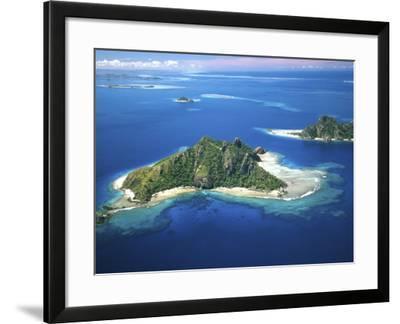Aerial of Maolo Island, Mamanuca Islands, Fiji-David Wall-Framed Photographic Print