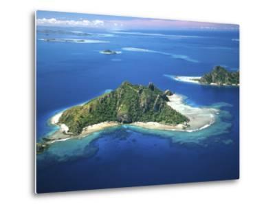 Aerial of Maolo Island, Mamanuca Islands, Fiji-David Wall-Metal Print