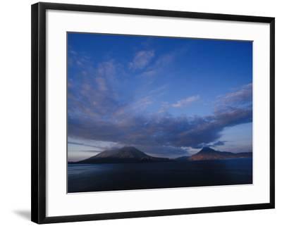 Scenic Volcanos at Sunset, Lake Atitlan, Guatemala-John & Lisa Merrill-Framed Photographic Print