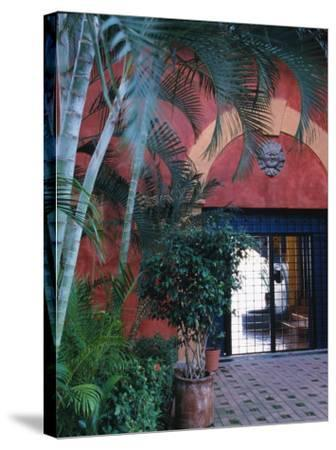 Exterior of Traditional Mexican Architecture, Puerto Vallarta, Mexico-John & Lisa Merrill-Stretched Canvas Print