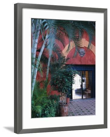 Exterior of Traditional Mexican Architecture, Puerto Vallarta, Mexico-John & Lisa Merrill-Framed Photographic Print