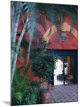 Exterior of Traditional Mexican Architecture, Puerto Vallarta, Mexico-John & Lisa Merrill-Mounted Photographic Print
