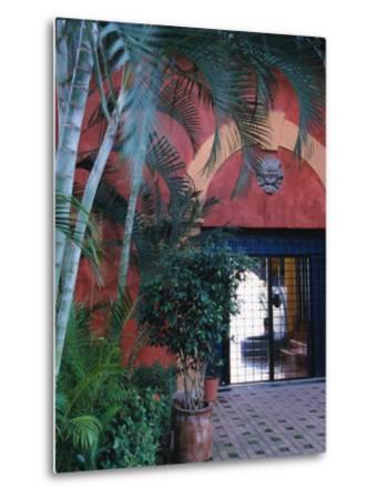 Exterior of Traditional Mexican Architecture, Puerto Vallarta, Mexico-John & Lisa Merrill-Metal Print