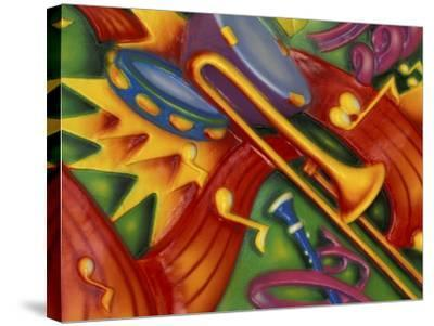 Colorful Poster Along the Riverwalk, New Orleans, Louisiana, USA-Adam Jones-Stretched Canvas Print