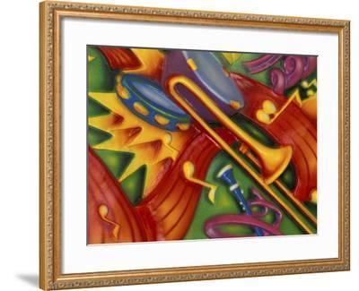 Colorful Poster Along the Riverwalk, New Orleans, Louisiana, USA-Adam Jones-Framed Photographic Print