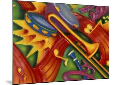 Colorful Poster Along the Riverwalk, New Orleans, Louisiana, USA-Adam Jones-Mounted Photographic Print