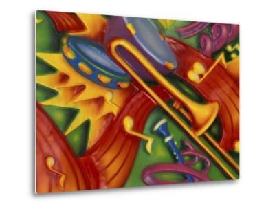 Colorful Poster Along the Riverwalk, New Orleans, Louisiana, USA-Adam Jones-Metal Print