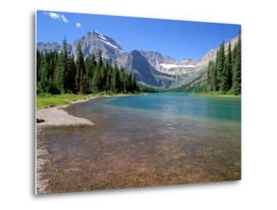 Lake Josephine with Grinnell Glacier and the Continental Divide, Glacier National Park, Montana-Jamie & Judy Wild-Metal Print