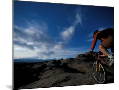 Mountain Biking on the Moab Slickrock Bike Trail, Navajo Sandstone, Utah, USA-Jerry & Marcy Monkman-Mounted Photographic Print