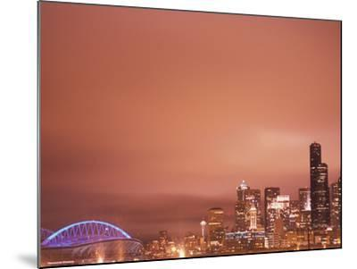 Downtown and Qwest Field, Seattle, King County, Washington, USA-Brent Bergherm-Mounted Photographic Print