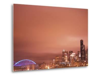 Downtown and Qwest Field, Seattle, King County, Washington, USA-Brent Bergherm-Metal Print