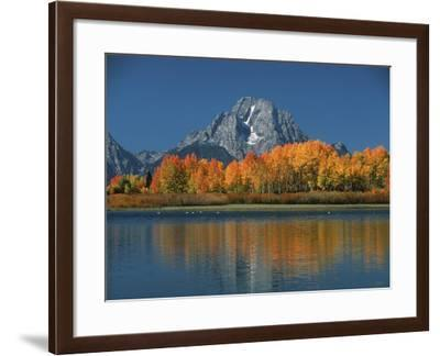 Mt. Moren, Oxbow Bend, Grand Tetons National Park, Wyoming, USA-Dee Ann Pederson-Framed Photographic Print