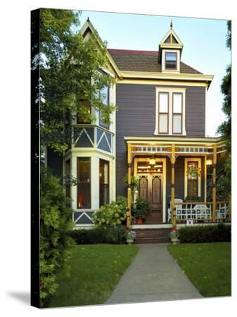 Victorian Style Home--Stretched Canvas Print