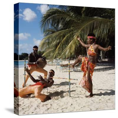 Limbo Dance, Barbados--Stretched Canvas Print