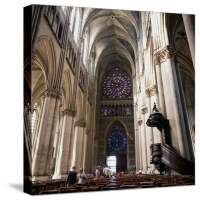 Gothic Cathedral Reims Champagne, France--Stretched Canvas Print