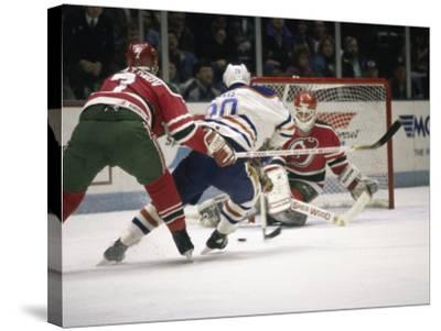 Ice Hockey East Rutherford, New Jersey, USA--Stretched Canvas Print