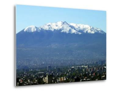The Ajusco Mountain is Seen Behind Mexico City--Metal Print