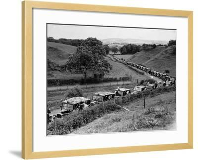 Glasgow Taxis Taking Children from Mearnskirk Hospital on Their Annual Outing to Troon, 1955--Framed Photographic Print