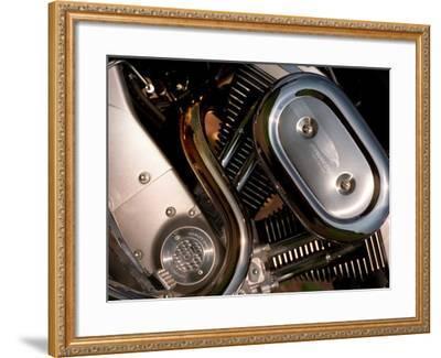 Harley Davidson Motorbike, June 1998--Framed Photographic Print