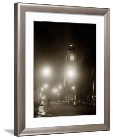 Big Ben and the Houses of Parliament Floodlit for the Opening of the Festival of Britain, 1951--Framed Photographic Print