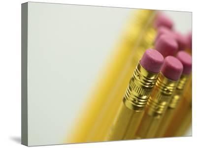 Detail of Pencil Erasers--Stretched Canvas Print