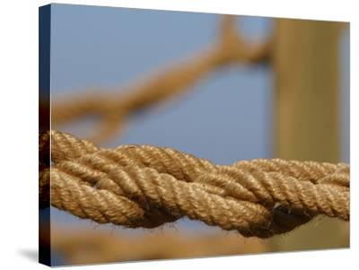 Braided Nautical Rope--Stretched Canvas Print