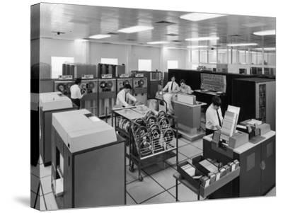The Central Computer at Harwell--Stretched Canvas Print