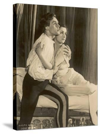 Marius Goring British Actor of Stage and Screen in the Role of Romeo with Peggy Ashcroft as Juliet- Debenham-Stretched Canvas Print