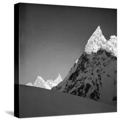 Mitria Peak (6100 Meters), Area Surrounding the Circo Concordia, Karakorum--Stretched Canvas Print