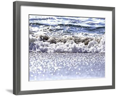 Gently Lapping Surf-Georgienne Bradley-Framed Photographic Print