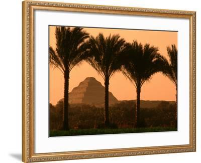 Step Pyramid, Djoser, Old Kingdom, Sakkarra, Egypt-Kenneth Garrett-Framed Photographic Print