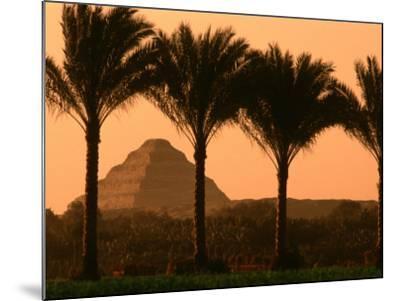 Step Pyramid, Djoser, Old Kingdom, Sakkarra, Egypt-Kenneth Garrett-Mounted Photographic Print