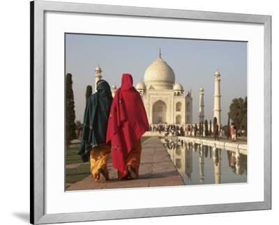 Women at Taj Mahal on River Yamuna, India-Claudia Adams-Framed Photographic Print