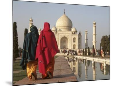 Women at Taj Mahal on River Yamuna, India-Claudia Adams-Mounted Photographic Print