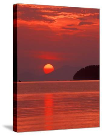 Andaman Sea Glows With Reflected Sunset, Thailand-John & Lisa Merrill-Stretched Canvas Print