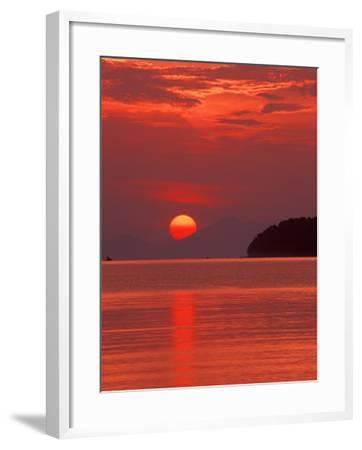 Andaman Sea Glows With Reflected Sunset, Thailand-John & Lisa Merrill-Framed Photographic Print