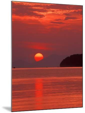 Andaman Sea Glows With Reflected Sunset, Thailand-John & Lisa Merrill-Mounted Photographic Print