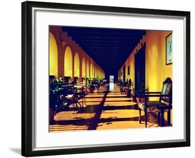 El Convento Hotel, Patio del Nispero, Courtyard, San Juan, Puerto Rico-Greg Johnston-Framed Photographic Print