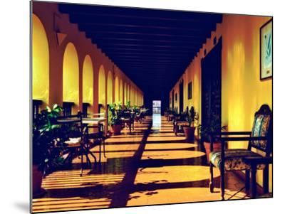El Convento Hotel, Patio del Nispero, Courtyard, San Juan, Puerto Rico-Greg Johnston-Mounted Photographic Print