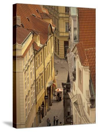 Buildings of Old Town, Prague, Czech Republic-Walter Bibikow-Stretched Canvas Print