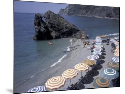 Mediterranean Beach in Cinque Terre, Liguria, Italy,-David Barnes-Mounted Photographic Print