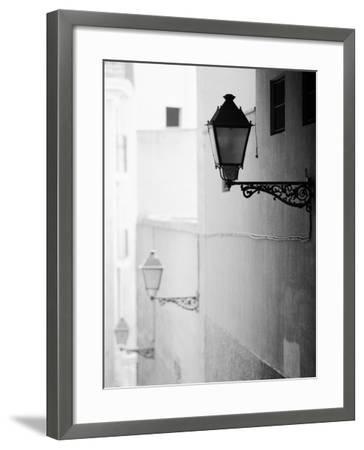 Streelights, Palma, Mallorca, Spain-Walter Bibikow-Framed Photographic Print