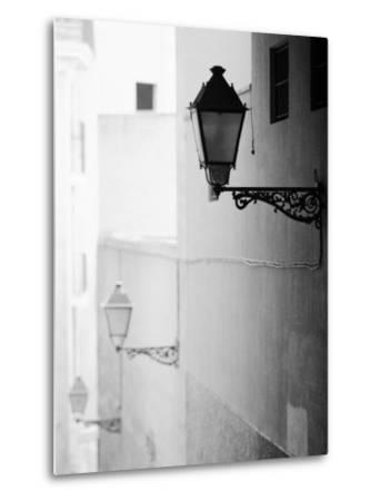 Streelights, Palma, Mallorca, Spain-Walter Bibikow-Metal Print