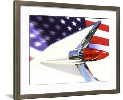 Classic Cadillac and American Flag-Bill Bachmann-Framed Photographic Print