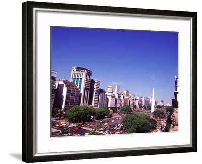 Avenida 9 de Julio and Obelisco, Buenos Aires, Argentina-Michele Molinari-Framed Photographic Print
