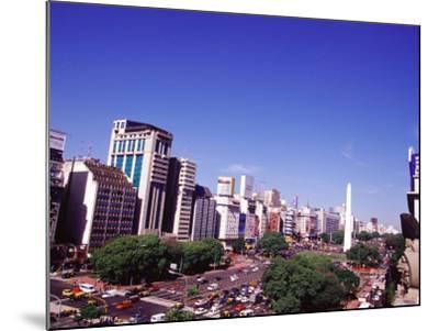 Avenida 9 de Julio and Obelisco, Buenos Aires, Argentina-Michele Molinari-Mounted Photographic Print