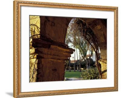 Courtyard of Mission San Juan Capistrano, California, USA-John & Lisa Merrill-Framed Photographic Print