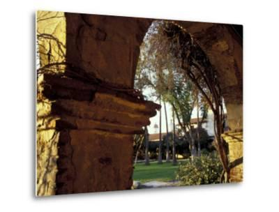 Courtyard of Mission San Juan Capistrano, California, USA-John & Lisa Merrill-Metal Print