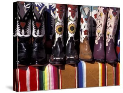 Cowboy Boots Detail, Santa Fe, New Mexico, USA-Judith Haden-Stretched Canvas Print